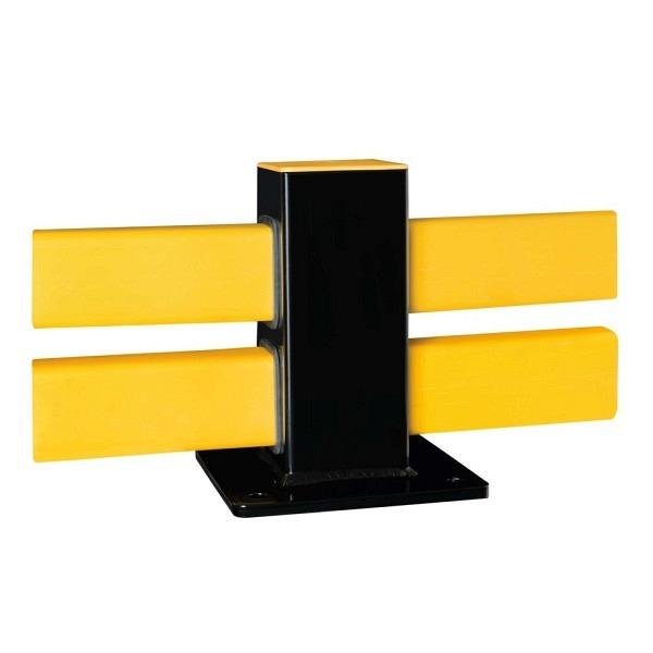 BLACK BULL Bodenbarriere Hybrid Stahl und Kunststoff kombiniert, schwarz